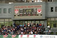 Match des Alouette contre argonauts (probablement en 2002)<br /> <br /> PHOTO : Agence Quebec Presse