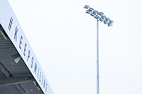 General view of Adam Park Stadium in snow ahead of the FA Cup fixture Wycombe Wanderers v Tottenham Hotspur - Snow and bad weather hits High Wycombe during the  at  on the 24 January 2021. Photo by Andy Rowland.