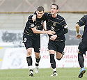 06/03/2010  Copyright  Pic : James Stewart.sct_jspa12_hamilton_v_aberdeen  .::  ZANDER DIAMOND IS CONGRATULATED BY MARK KERR AFTER HE SCORES THE EQUALISER  :: .James Stewart Photography 19 Carronlea Drive, Falkirk. FK2 8DN      Vat Reg No. 607 6932 25.Telephone      : +44 (0)1324 570291 .Mobile              : +44 (0)7721 416997.E-mail  :  jim@jspa.co.uk.If you require further information then contact Jim Stewart on any of the numbers above.........