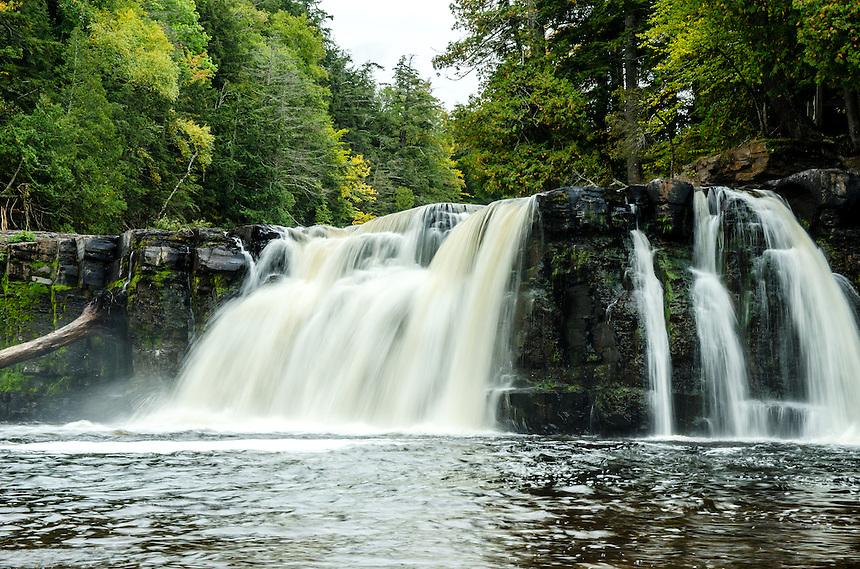 Manabezho Falls, Porcupine Mountains State Park. Western U.P. of Michigan