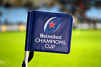 Photo: Richard Lane/Richard Lane Photography. Wasps v Toulouse.  European Rugby Champions Cup. 08/12/2018. Heineken Champions Cup flag.
