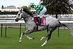 October 02, 2016, Chantilly, FRANCE - The Grey Gatsby with James William Doyle up at the Qatar Prix de'l Arc de Triomphe (Gr. I) at  Chantilly Race Course  [Copyright (c) Sandra Scherning/Eclipse Sportswire)
