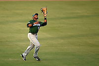 Daytona Tortugas outfielder Phillip Ervin (6) catches a fly ball during a game against the Tampa Yankees on April 24, 2015 at George M. Steinbrenner Field in Tampa, Florida.  Tampa defeated Daytona 12-7.  (Mike Janes/Four Seam Images)