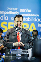 ATENCAO EDITOR IMAGEM EMBARGADA PARA VEICULOS INTERNACIONAIS -  SAO PAULO, SP, 16 OUTUBRO 2012 - O presidente da Assembleia Legislativa Barros Munhoz durante encontro com prefeitos eleitos do PSDB no Edificio Joelma na região central da capital paulista, nesta terça-feira, 16. A presensa do candidato a prefeitura Jose Serra era esperada o que não aconteceu. (FOTO:   WILLIAM VOLCOV / BRAZIL PHOTO PRESS).