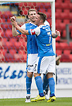 St Johnstone v Sunderland…15.07.17… McDiarmid Park… Pre-Season Friendly<br />David Wotherspoon celebrates his second goal<br />Picture by Graeme Hart.<br />Copyright Perthshire Picture Agency<br />Tel: 01738 623350  Mobile: 07990 594431