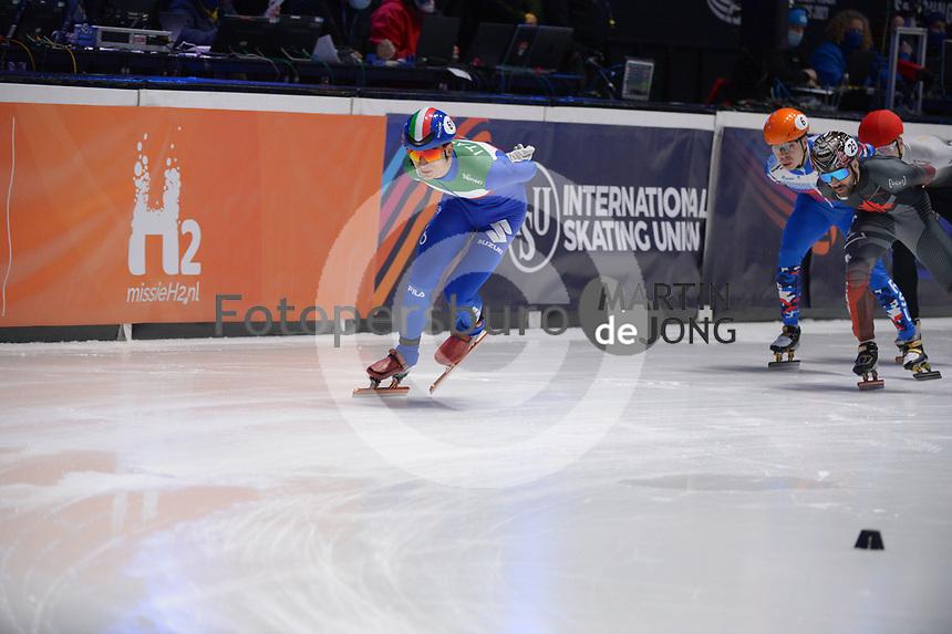 SPEEDSKATING: DORDRECHT: 07-03-2021, ISU World Short Track Speedskating Championships, 3000m Superfinal Men, Pietro Sighel (ITA), ©photo Martin de Jong