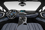 Stock photo of straight dashboard view of a 2019 BMW i8 Base 2 Door Coupe