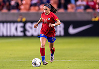 HOUSTON, TX - JANUARY 28: Priscila Chinchilla #14 of Costa Rica dribbles during a game between Costa Rica and Panama at BBVA Stadium on January 28, 2020 in Houston, Texas.