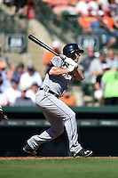 Detroit Tigers outfielder Jason Krizan (73) during a Spring Training game against the Baltimore Orioles on March 4, 2015 at Ed Smith Stadium in Sarasota, Florida.  Detroit defeated Baltimore 5-4.  (Mike Janes/Four Seam Images)