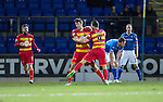 St Johnstone v Partick Thistle…02.03.16  SPFL McDiarmid Park, Perth<br />Callum Booth celebrates his goal<br />Picture by Graeme Hart.<br />Copyright Perthshire Picture Agency<br />Tel: 01738 623350  Mobile: 07990 594431