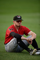 Erie SeaWolves Kody Eaves (22) before an Eastern League game against the Akron RubberDucks on August 30, 2019 at Canal Park in Akron, Ohio.  Erie defeated Akron 3-2.  (Mike Janes/Four Seam Images)