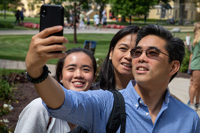 August 23, 2019; Move-in day 2019 (Photo by Matt Cashore/University of Notre Dame)