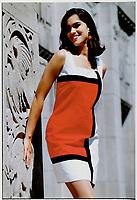 Color Blocks: Selina cotton Mondrian dress; far right; $210; at Eaton's; Cactus; Brettons. Earrings; Garbo.