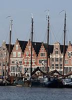 Nederland - Hoorn- 2020.    Boten bij de Veermanskade.   Foto ANP / HH / Berlinda van Dam