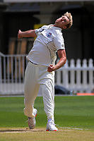 Kyle Jamieson bowls during day three of the Plunket Shield match between the Wellington Firebirds and Auckland Aces at the Basin Reserve in Wellington, New Zealand on Monday, 16 November 2020. Photo: Dave Lintott / lintottphoto.co.nz