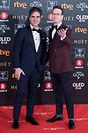 Ernesto Sevilla and Joaquin Reyes attends red carpet of Goya Cinema Awards 2018 at Madrid Marriott Auditorium in Madrid , Spain. February 03, 2018. (ALTERPHOTOS/Borja B.Hojas)