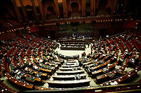 A general view of the Chamber of Deputies during the discussion and vote of confidence in the new Government. Rome (Italy), February 18th 2021<br /> Photo Samantha Zucchi Insidefoto