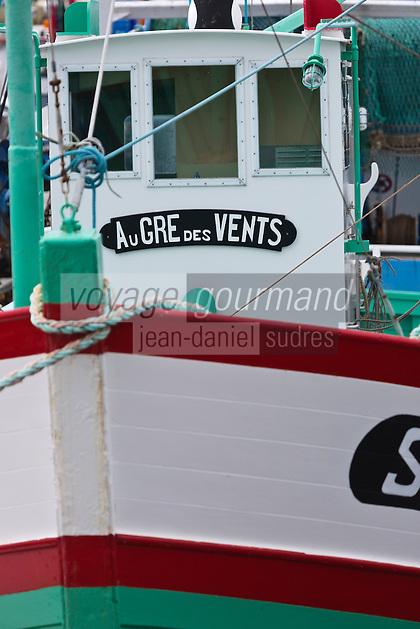 Europe/France/Pays de la Loire/44/Loire Atlantique/Presqu'île Guérandaise/La Turballe:  Le Sardinier: Au Gré des Vents - Musée de la pêche, La Turballe, port de pêche a fondé son activité sur la pêche à la sardine,  //   France, Loire Atlantique, Guerande Peninsula, La Turballe The Sardinier, Au Gre des Vents Fisheries Museum, La Turballe, fishing port has based its activity on sardine fishing