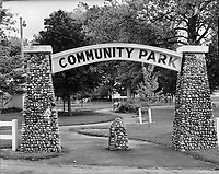 Flora Community Park<br /> Flora, Indiana<br /> Carroll County<br /> <br /> In 1919, a group of civic-minded businessmen and professional people in Flora, Indiana, reorganized the Flora Commercial Club to promote the growth and welfare of the community. Charles Reist donated land for the park.   More than twenty-five years earlier, Charles T. Minnix of Franklin County, Virginia, came to Flora in 1895 and became the owner of the Flora Artificial Stone Co. Later Mr. Minnix and his partner, John Oaks, became dealers in coal, stone, and cement.  He was also a member of the firm Clark and Minnix who were well-known road and bridge contractors.  Mr. Minnix was instrumental in building the arch within the park.  The Community Park opening was circa 1923.