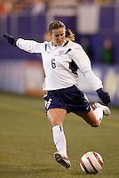 """USA's Brandi Chastain. The US Women's National Team tied the Denmark Women's National Team 1 to 1 during game 8 of the 10 game the """"Fan Celebration Tour"""" at Giant's Stadium, East Rutherford, NJ, on Wednesday, November 3, 2004.."""