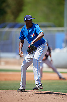 Toronto Blue Jays pitcher Carlos Ramirez (81) delivers a pitch during a minor league Spring Training game against the New York Yankees on March 30, 2017 at the Englebert Complex in Dunedin, Florida.  (Mike Janes/Four Seam Images)