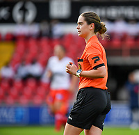 referee Irmgard Van Meirvenne pictured during a female soccer game between Zulte Waregem and the KAA Gent Ladies on the fourth matchday of the 2020 - 2021 season of Belgian Scooore Womens Super League , saturday 10 October 2020  in Waregem , Belgium . PHOTO SPORTPIX.BE | SPP | DAVID CATRY