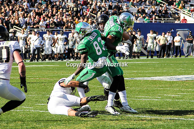North Texas Mean Green wide receiver Tyler Wilson (83) in action during the Zaxby's Heart of Dallas Bowl game between the Army Black Knights and the North Texas Mean Green at the Cotton Bowl Stadium in Dallas, Texas.