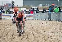 Pim Ronhaar (NED/Pauwels Sauzen-Bingoal)<br /> <br /> UCI 2021 Cyclocross World Championships - Ostend, Belgium<br /> <br /> U23 Men's Race<br /> <br /> ©kramon