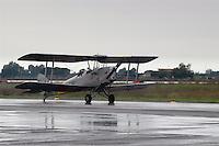 """- vintage aircraft """"Tiger Moth"""" on the base of 4o fighter air squadron of Grosseto....- aereo biplano d'epoca """"Tiger Moth sulla base della 4a aerobrigata da caccia di Grosseto.."""