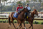 DEL MAR, CA  AUGUST 3: #3 Storm the Hill, ridden by Rafael Bejarano, in the post parade before the Yellow Ribbon Handticap (Grade ll) on August 3, 2019, at Del Mar Thoroughbred Club in Del Mar, CA..  (Photo by Casey Phillips/Eclipse Sportswire/CSM)