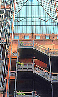 Los Angeles: Bradbury Building--roof from floor. Photo '78.