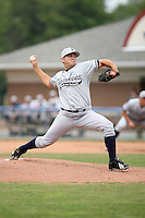 July 9th 2007:  Nick Chigges of the Staten Island Yankees, Class-A affiliate of the New York Yankees, at Dwyer Stadium in Batavia, NY.  Photo by:  Mike Janes/Four Seam Images