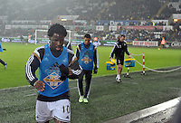 Pictured: Friday 26 December 2014<br /> Re: Premier League, Swansea City FC v Aston Villa at the Liberty Stadium, Swansea, south Wales, UK.<br /> <br /> Wilfried Bony