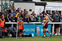 Morgan Ward of Richmond Rugby is shown a yellow card during the English National League match between Richmond and Blackheath  at Richmond Athletic Ground, Richmond, United Kingdom on 4 January 2020. Photo by Carlton Myrie.