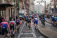 tricky roll out of Milano<br /> <br /> 110th Milano-Sanremo 2019 (ITA)<br /> One day race from Milano to Sanremo (291km)<br /> <br /> ©kramon