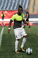 FOXBOROUGH, MA - JULY 25: USL League One (United Soccer League) match. Panzani Ferrety Sousa #25 of Union Omaha during a game between Union Omaha and New England Revolution II at Gillette Stadium on July 25, 2020 in Foxborough, Massachusetts.