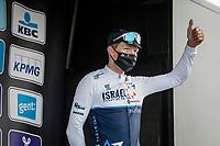 3rd finisher Sep Vanmarcke (BEL/Israel Start-Up Nation) on his 4th #OHN podium<br /> <br /> 76th Omloop Het Nieuwsblad 2021<br /> ME(1.UWT)<br /> 1 day race from Ghent to Ninove (BEL): 200km<br /> <br /> ©kramon