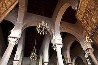 TUNISIE Kairouan centre spirituel et religieux  interne Grande Mosquee mosquee Oqba Ibn Nafi ....TUNISIA minareto della Grande Moschea citta santa di Kairouan  interni....TUNISIA Kairouan Great Mosque interiors