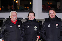 20.02.2020 OUD-HEVERLEE: OHL staff posing before the Belgian's Women's Super League match between Oud-Heverlee Leuven vs KRC Gent Ladies on Friday 20th February 2020, Stadion Oud-Heverlee, Oud-Heverlee, BELGIUM. PHOTO: SEVIL OKTEM