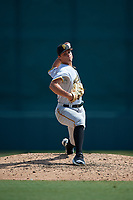 Pittsburgh Pirates pitcher Jake Brentz (56) delivers a pitch during an Instructional League game against the Baltimore Orioles on September 27, 2017 at Ed Smith Stadium in Sarasota, Florida.  (Mike Janes/Four Seam Images)