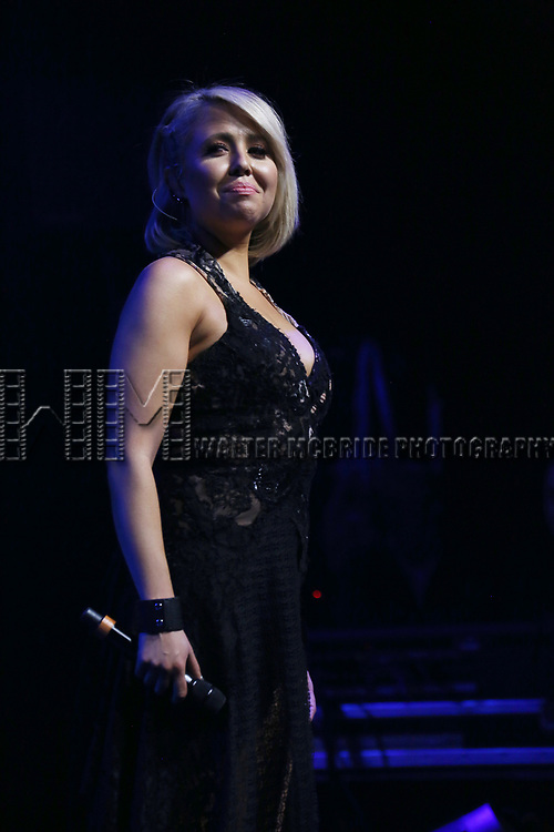 """Chloe Lowery during the Broadway Opening Night Performance Curtain Call of  """"Rocktopia"""" at The Broadway Theatre on March 27, 2018 in New York City."""
