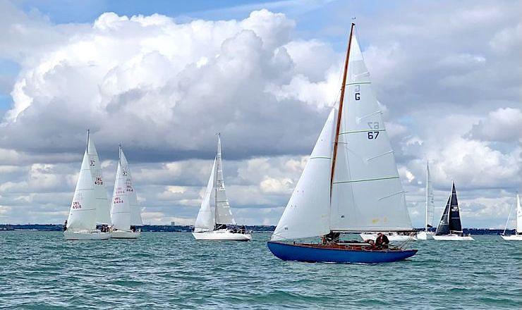 Ailbe & Aidan Millerick and Dermot Bremner sailing Glenluce were winners of the Dalkey Island Glen Race
