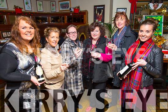 Joanne Burns, Jacqueline Higgins, Karen Ivers, Joan Ivers, Bernice Hoffman, Barbara Higgins enjoying the Der O'Sullivan Festive Wine tasting customer night in the Mall Tavern on Friday