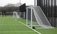 Pictured: One of the artificial astro-turf pitches. Tuesday 14 January 2013<br /> Re: Swansea City Football Club chairman Huw Jenkins receives the keys to the new training facility at Fairwood Common, on the outskirts of Swansea, south Wales.
