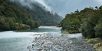 Haast River, Mt. Aspiring National Park, West Coast, South Westland, UNESCO World Heritage Area, New Zealand, NZ