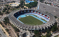 BARRANQUILLA- COLOMBIA - 7-10-2015: Panoramica del estadio Metropolitano Roberto Melendez tomada por un miembro de la Policia Nacional  durante un patrullaje sobre la ciudad de Barranquilla donde mañana la seleccion Colombia de futbol de mayores enfrentara a su similar del Peru por las eliminatorias al mundial de Rusia. /  Panoramic photo of Metropolitan Stadium Roberto Melendez taken by a member of the National Police during a patrol on the city of Barranquilla where tomorrow the selection Colombia greatest soccer face his like of Peru in the qualifiers to the world of Russia./Photo: VizzorImage / Policia Nacional Colombia