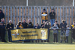 Southport fans. Darlington 1883 v Southport, National League North, 16th February 2019. The reborn Darlington 1883 share a ground with the town's Rugby Union club. <br />