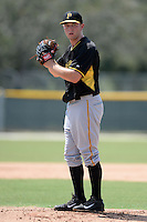 Pittsburgh Pirates pitcher Adrian Sampson (82) during an Instructional League game against the New York Yankees on September 18, 2014 at the Pirate City in Bradenton, Florida.  (Mike Janes/Four Seam Images)