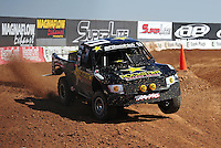 Mar. 18, 2011; Chandler, AZ, USA;  LOORRS pro 2 unlimited driver Rob MacCachren during qualifying for round one at Firebird International Raceway. Mandatory Credit: Mark J. Rebilas-