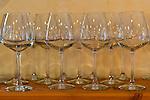 Wine glasses at Rappahannock Cellars.